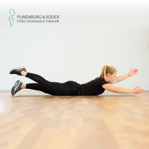 lage rug kracht prone alternate arm and leg raise