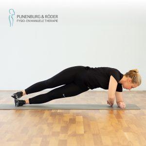 lage rug stabiliteit side plank with twist