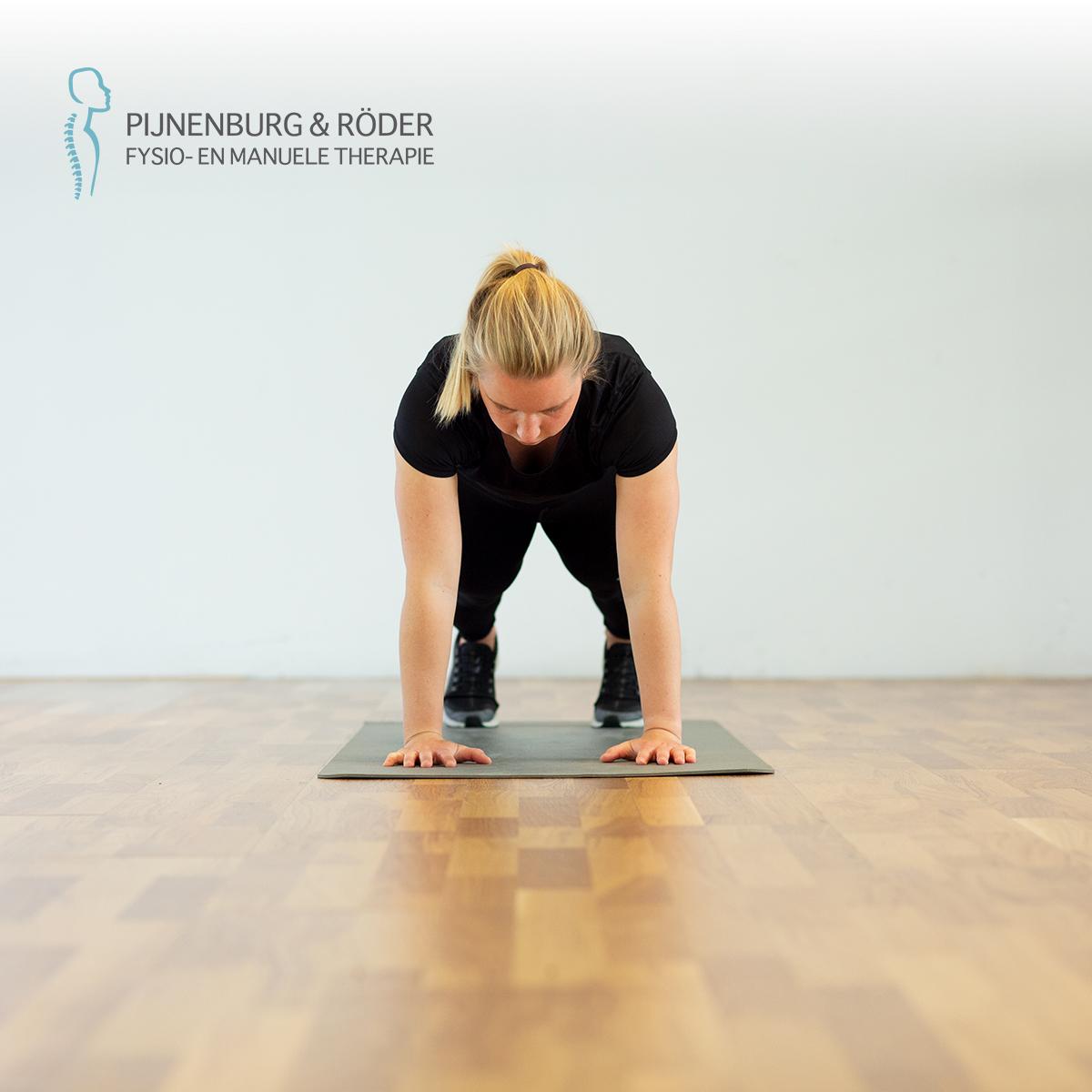 lage rug stabiliteit plank