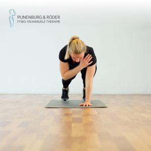 lage rug stabiliteit plank with shoulder tap