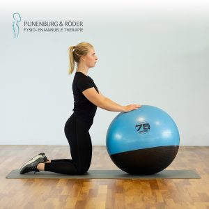 lage rug stabiliteit swiss ball forward roll