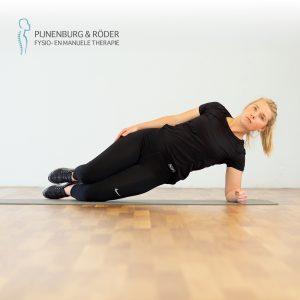 lage rug stabiliteit zijwaartse plank gebogen knieën side plank bent knees