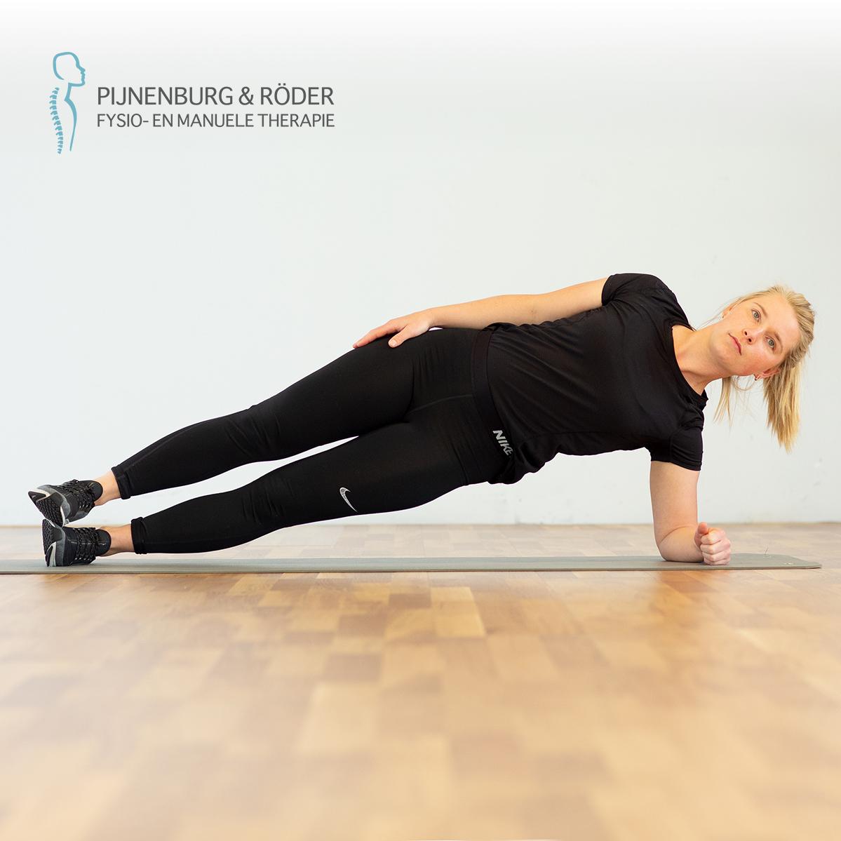 lage rug stabiliteit zijwaartse plank side plank
