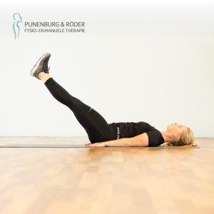 lage rug kracht lying leg raise