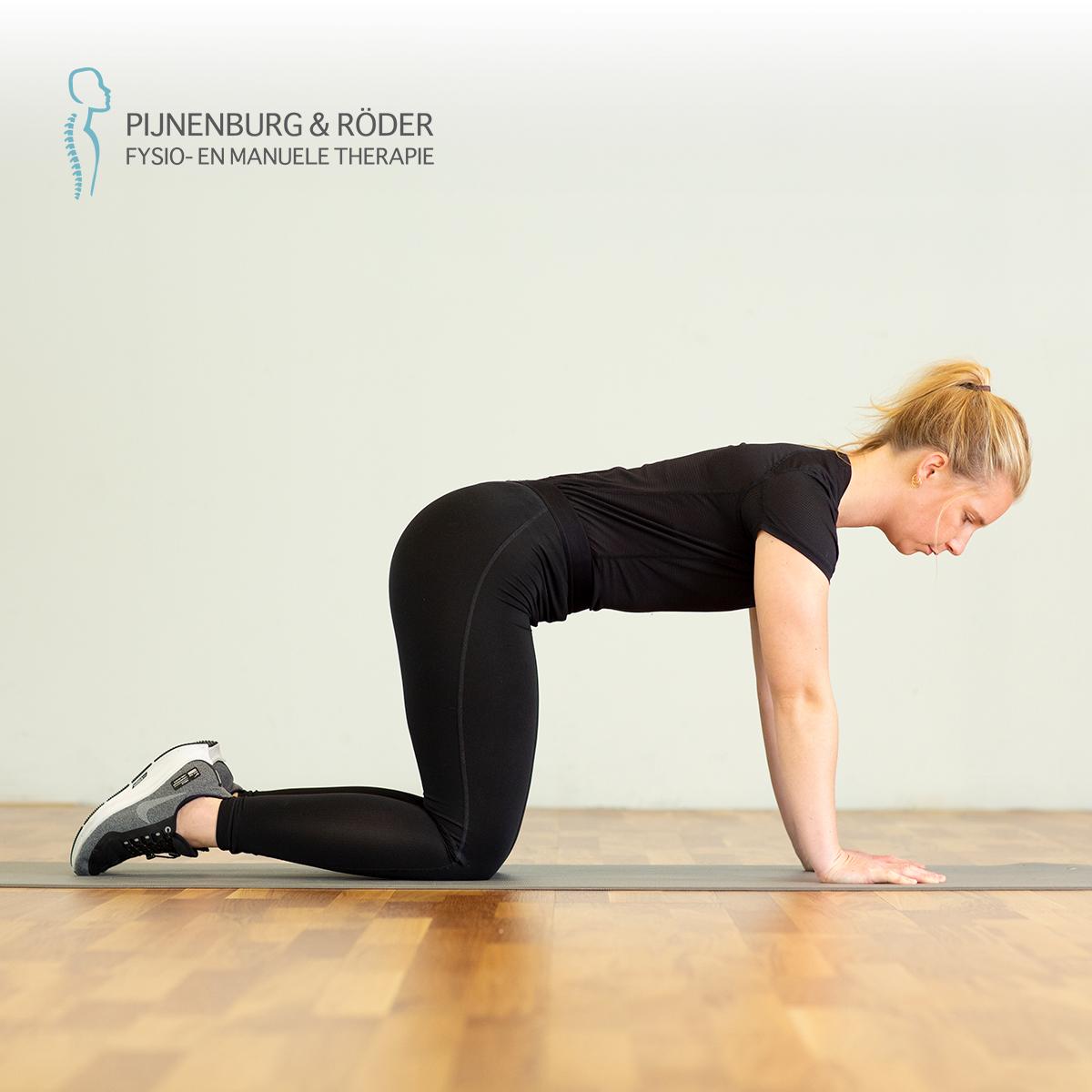 Lage rug mobiliteit kruiphouding