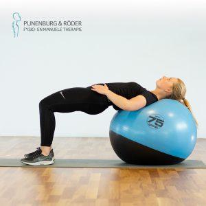 hip thrust met swiss ball