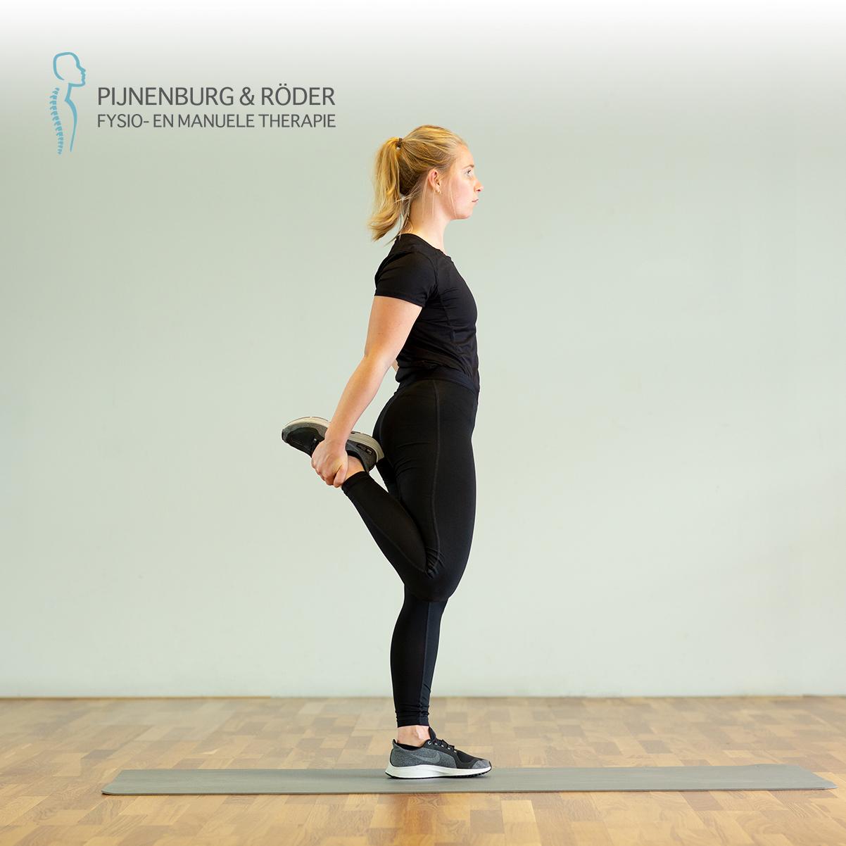rekoefening bovenbeen quadriceps