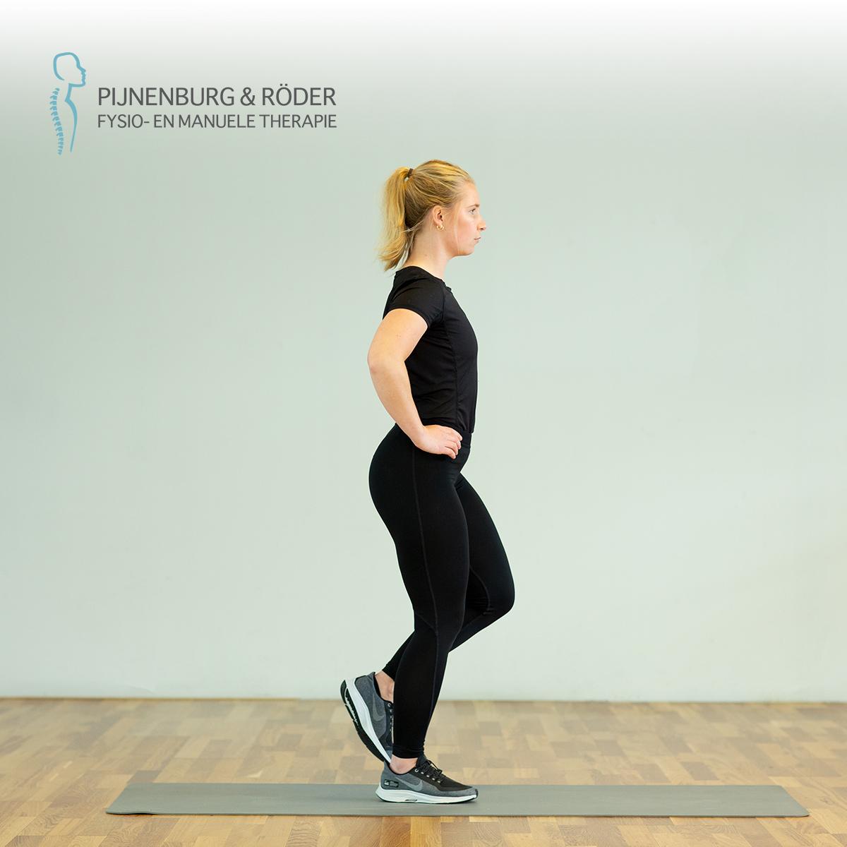 stabiliteit oefening knie single leg squat
